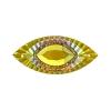 Resin Sew-on Piikki Stones 10pcs 18x40mm Navette Sun Aurora Borealis